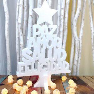 Corcho Árbol de Navidad con deseos. 60cm
