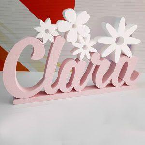 Nombre corcho personalizado. Floral. 57cm